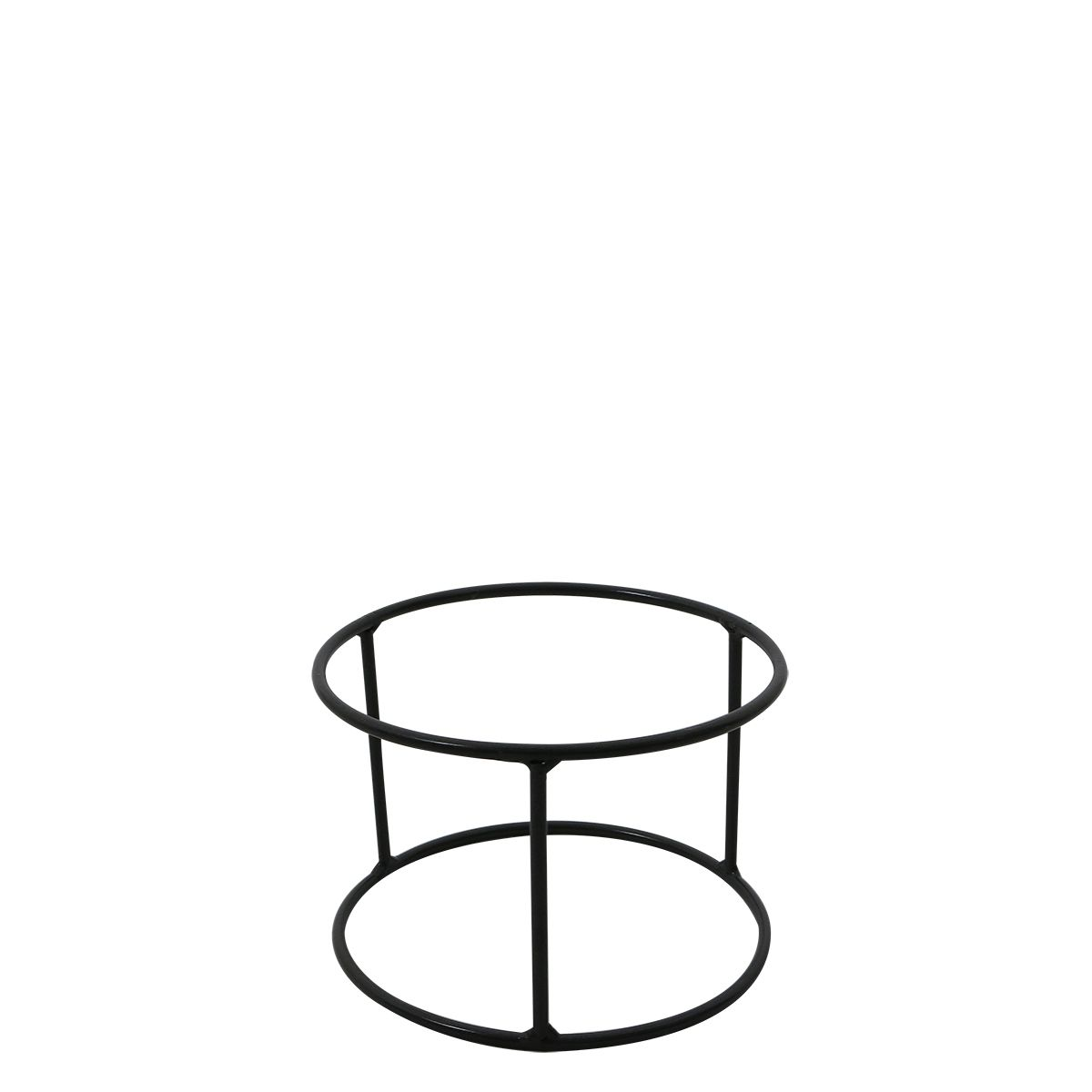 Suporte Ferro Vaso Loft 14 x 10 cm Grafite - VASART