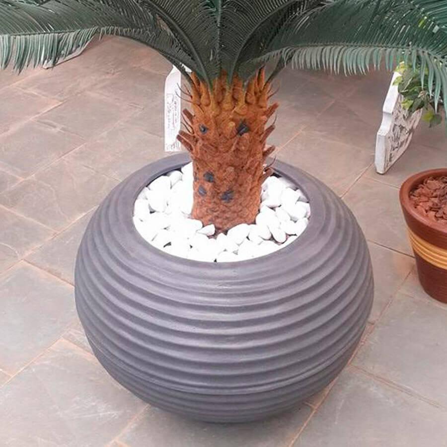 Vaso Bromélia 32 x 32 cm Granito Areia Vasart