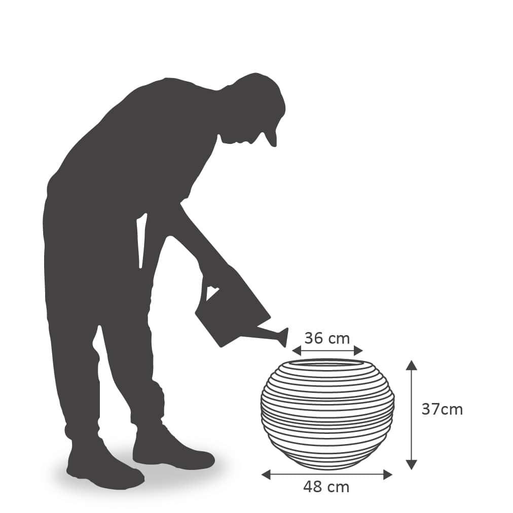 Vaso Bromélia 36x37 cm VASART