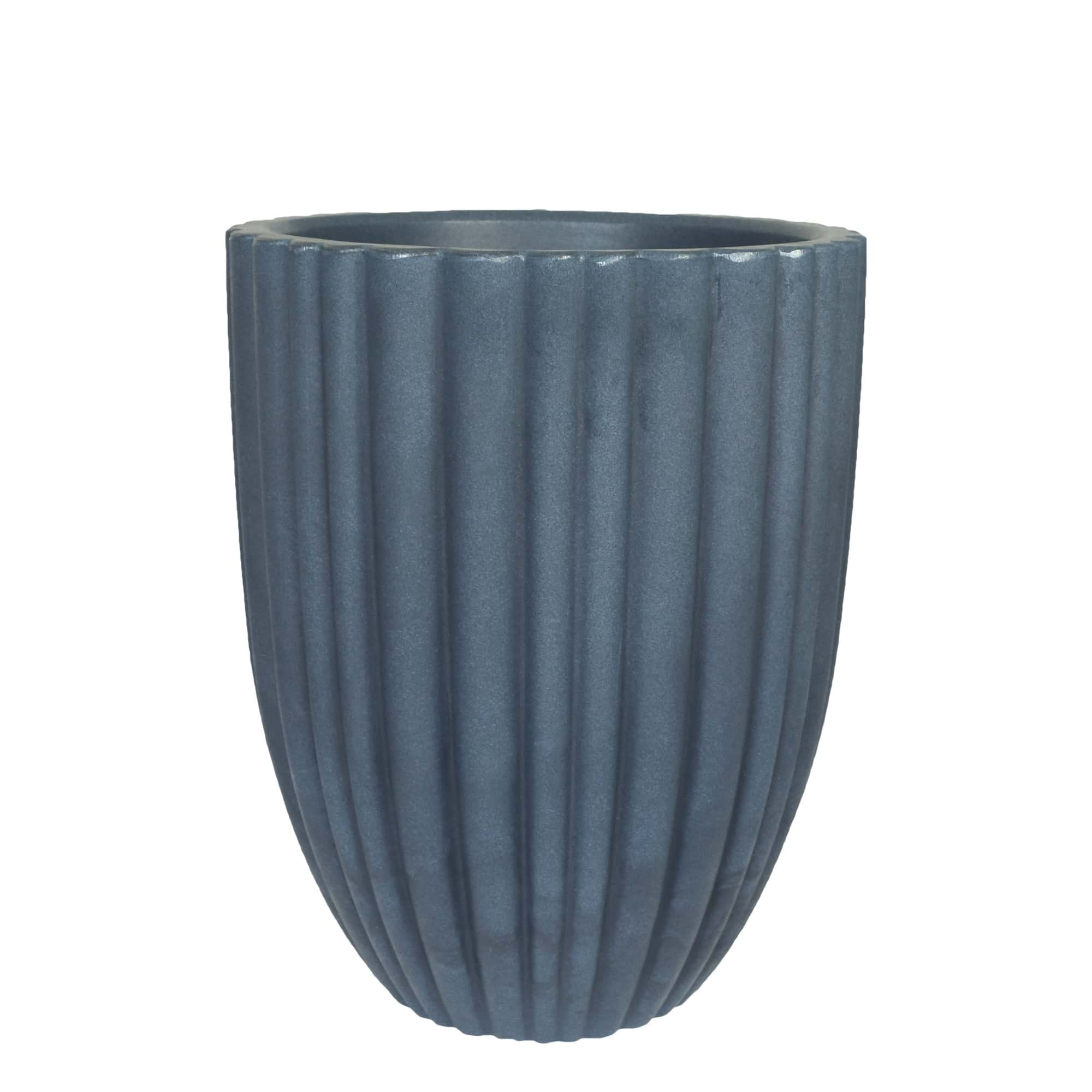 Vaso Cacau 32 x 46 cm Antique Azul