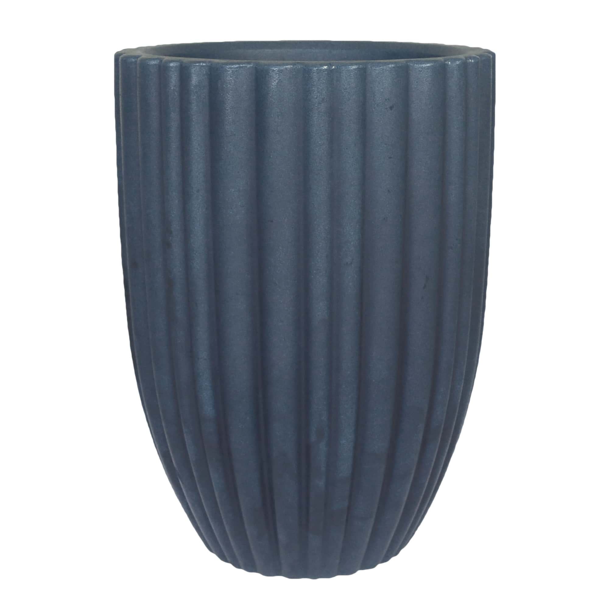 Vaso Cacau 42 x 54 cm Antique Azul