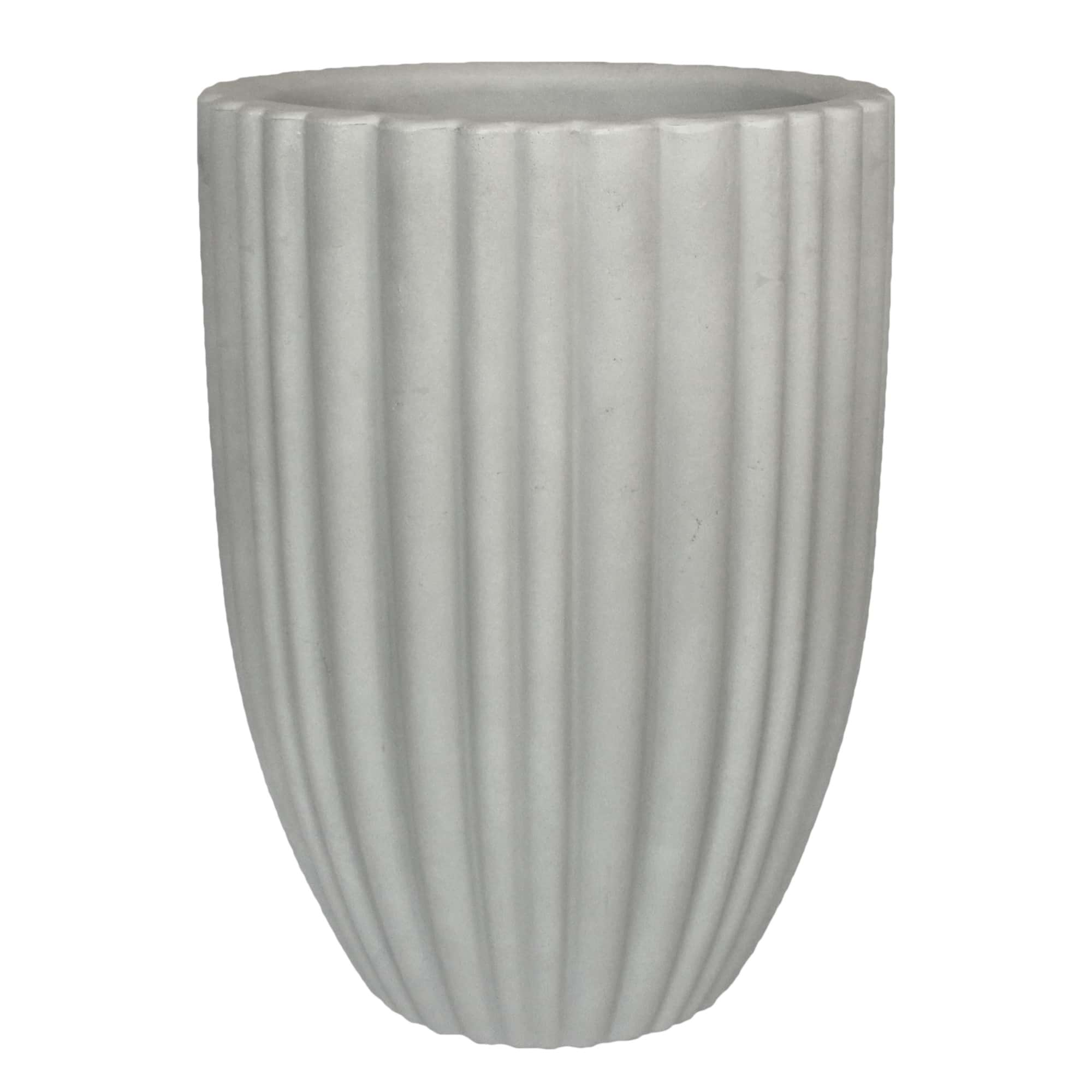 Vaso Cacau 42 x 54 cm Antique Branco