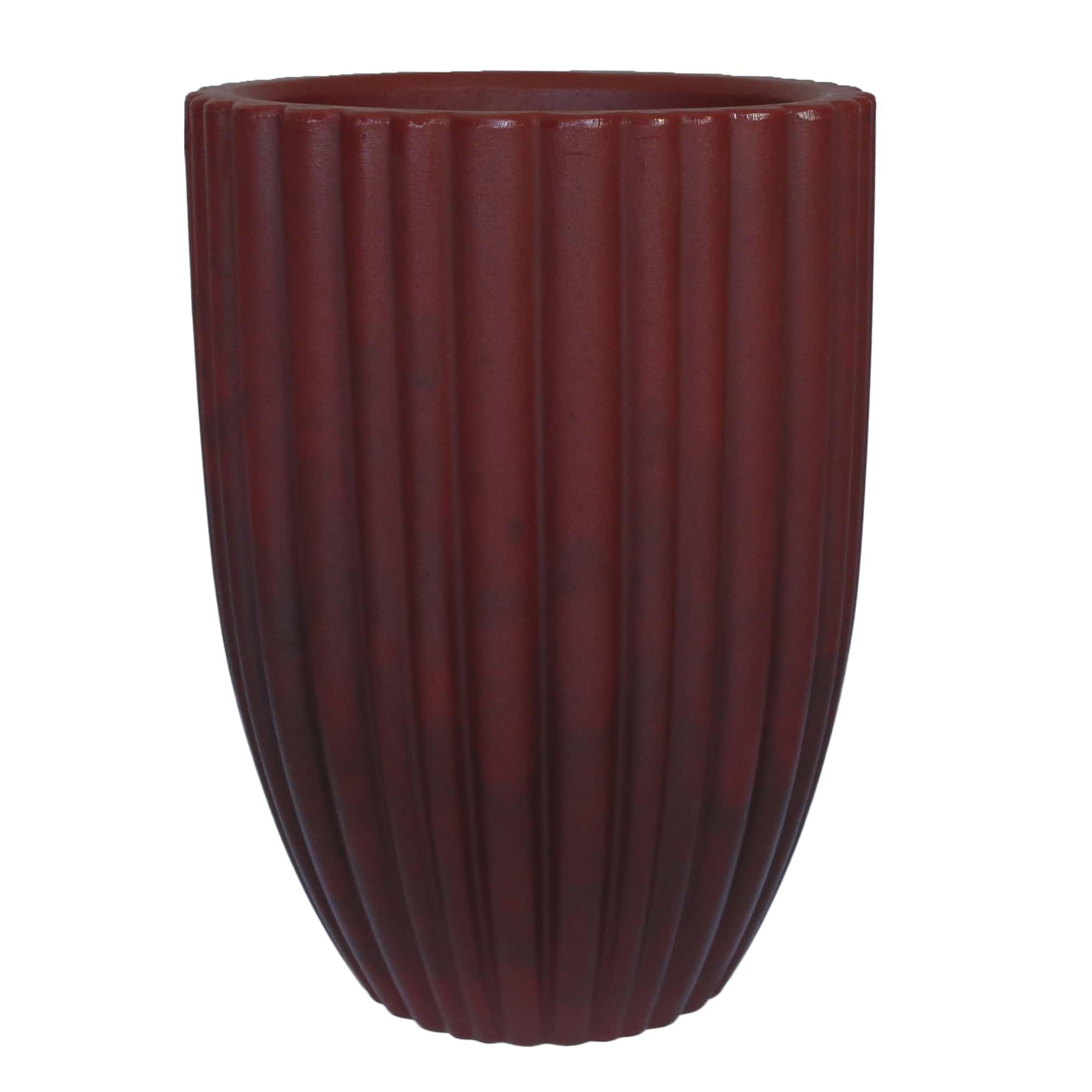 Vaso Cacau 42 x 54 cm Antique Vermelho