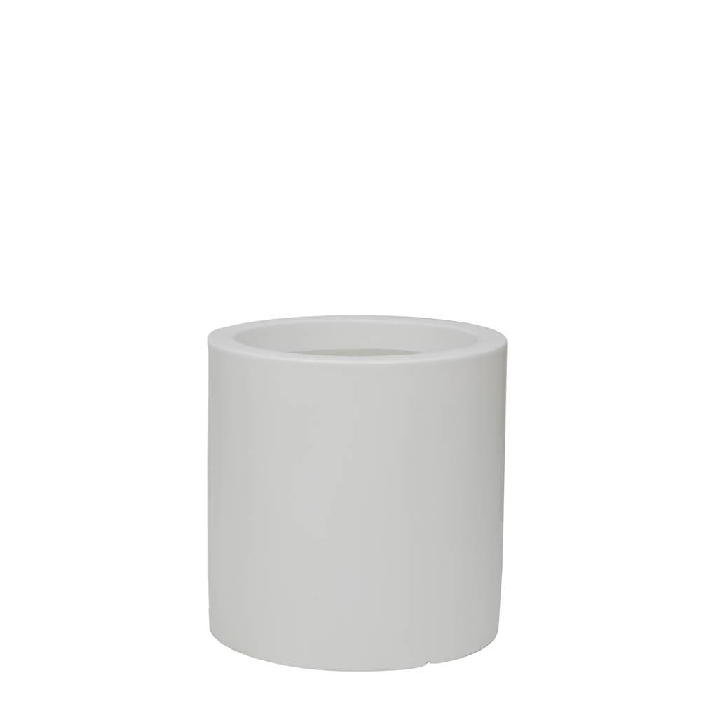 Vaso Cilindro 40 x 40 cm Branco Vasart