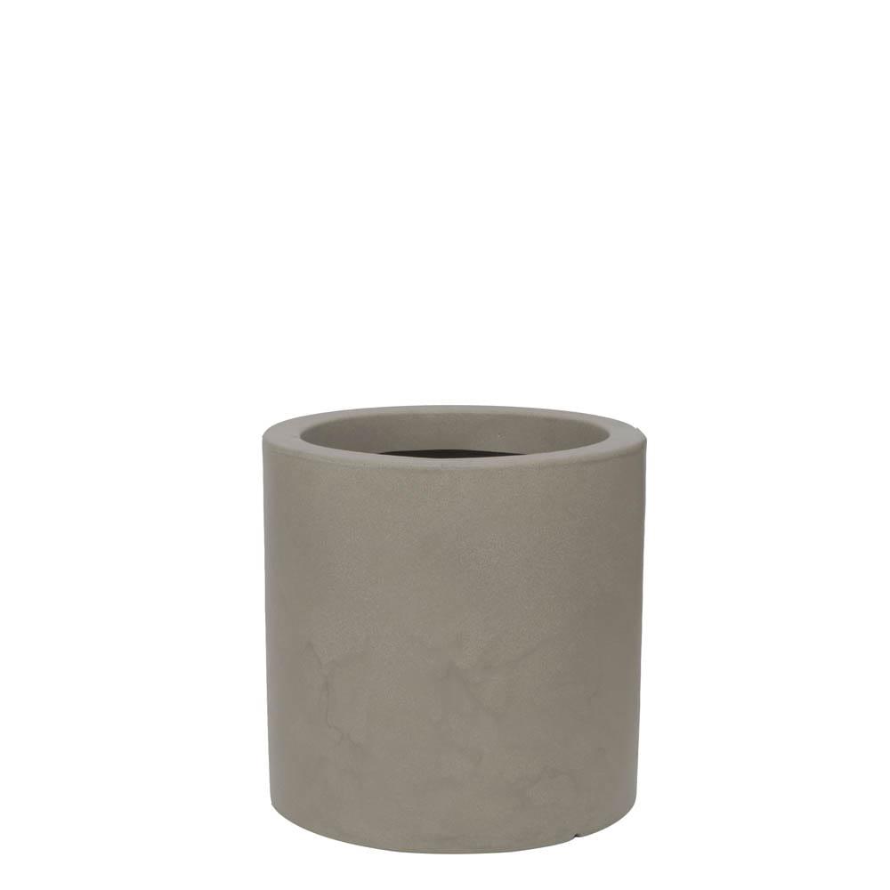 Vaso Cilindro 40 x 40 cm Concreto Marmorizado Vasart