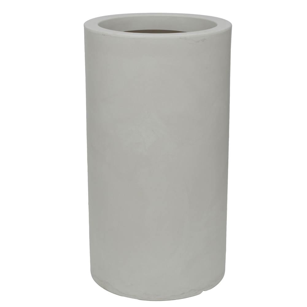 Vaso Cilindro 40 x 73 cm Branco Marmorizado Vasart