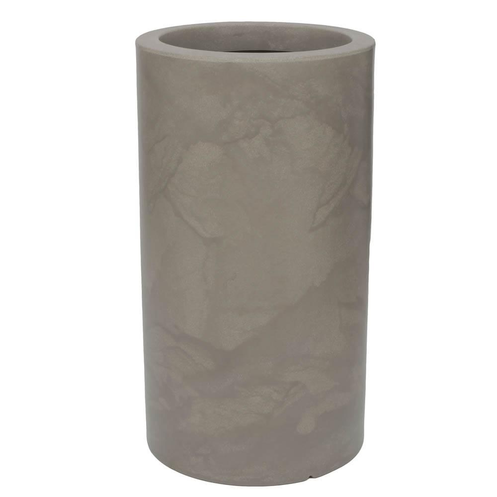 Vaso Cilindro 40 x 73 cm Concreto Marmorizado Vasart