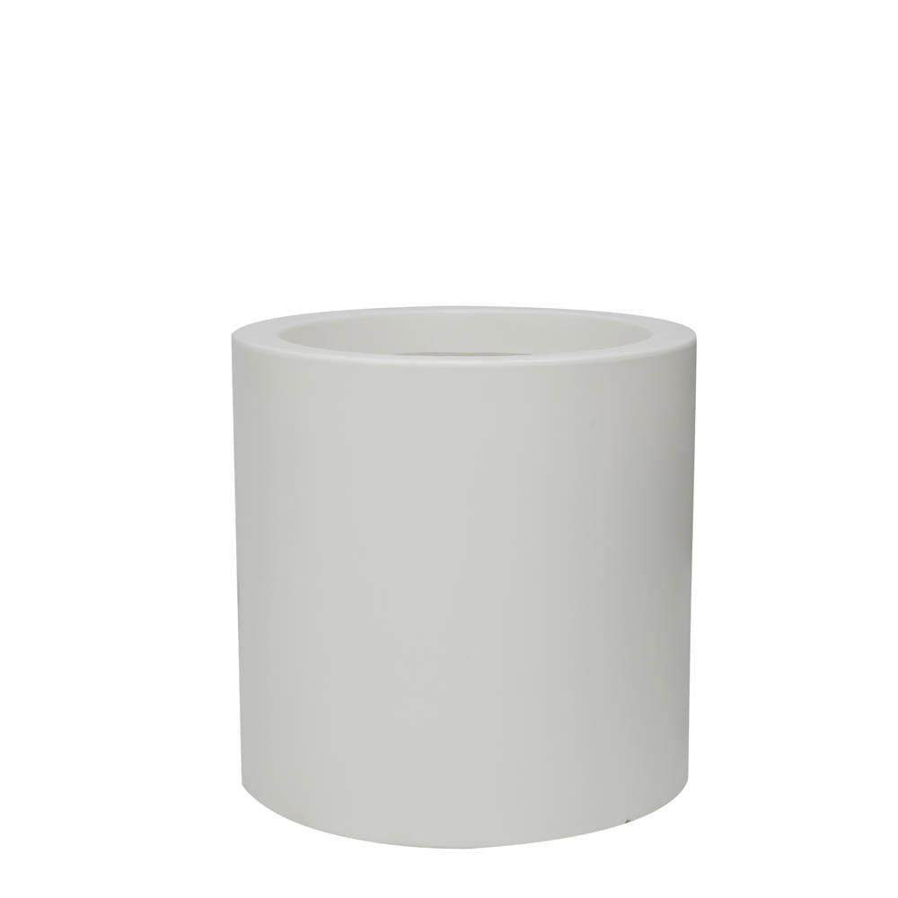 Vaso Cilindro 50 x 50 cm Branco Vasart