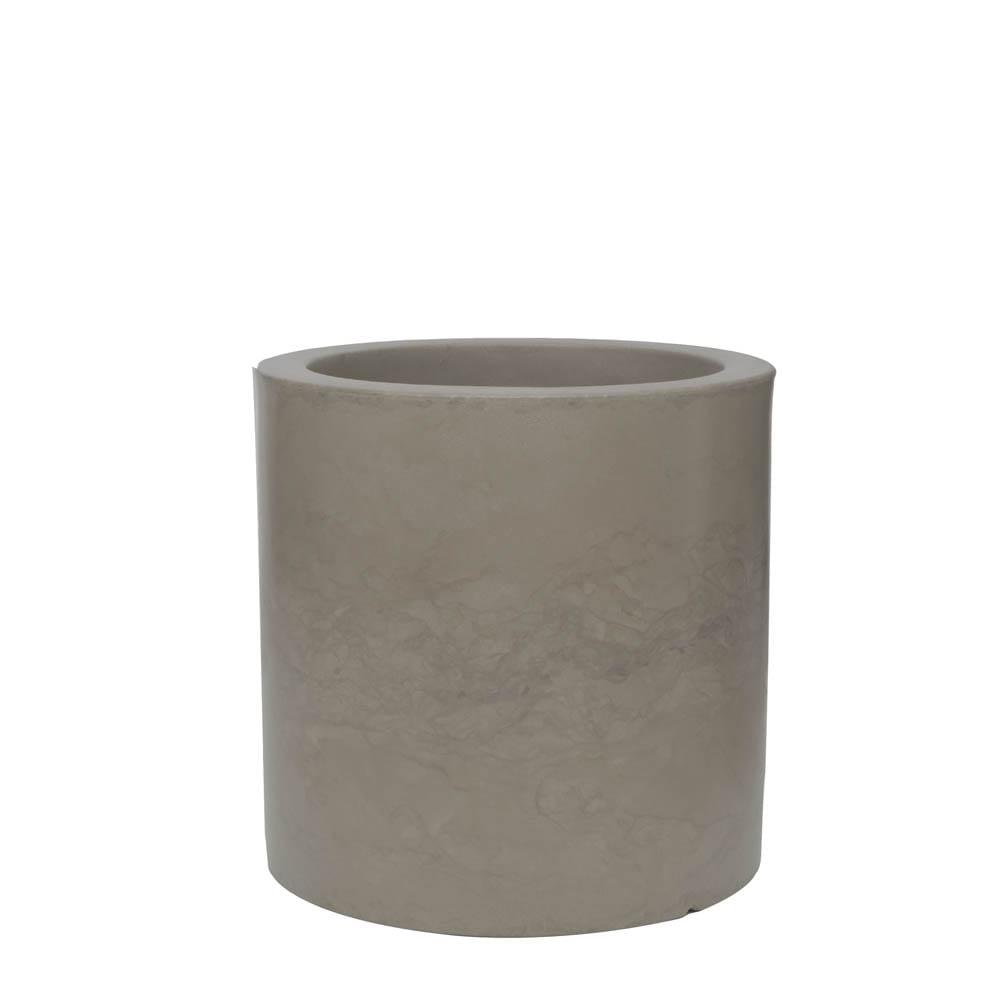 Vaso Cilindro 50 x 50 cm Concreto Marmorizado Vasart