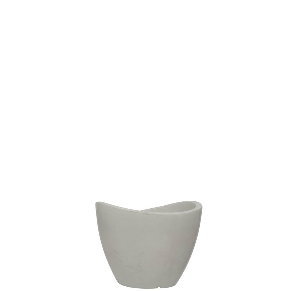 Vaso Copacabana 30 x 23 cm Branco Marmorizado Vasart