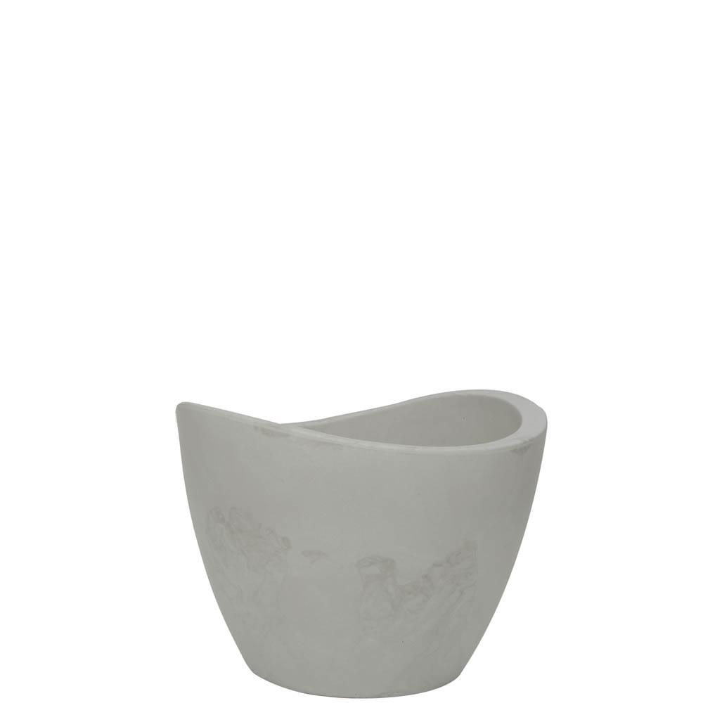 Vaso Copacabana 40 x 30 cm Branco Marmorizado Vasart
