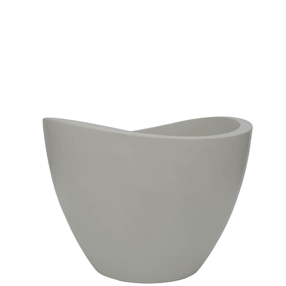 Vaso Copacabana 60 x 45 cm Branco Marmorizado Vasart