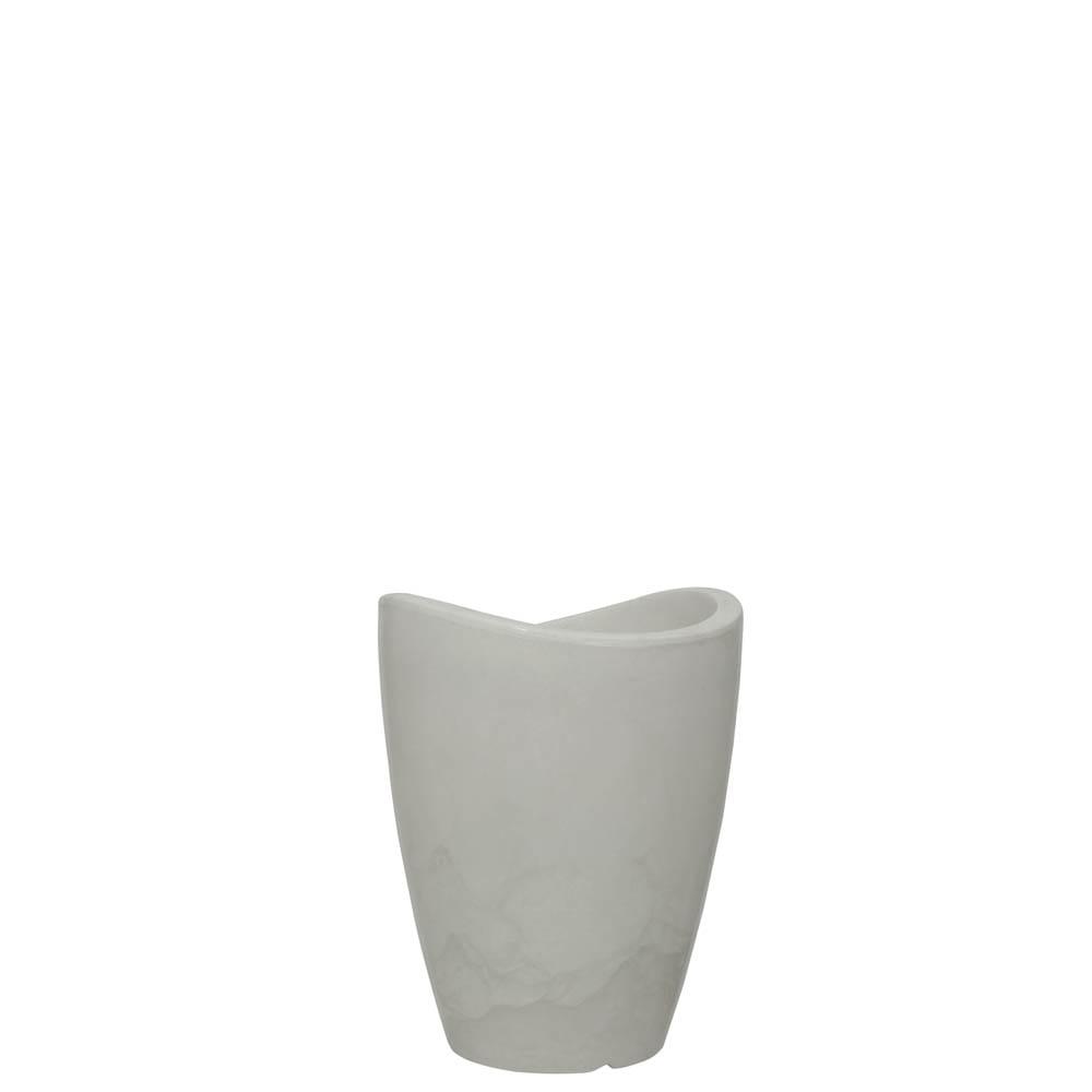 Vaso Copacabana Alto 25 x 32 cm Branco Marmorizado Vasart