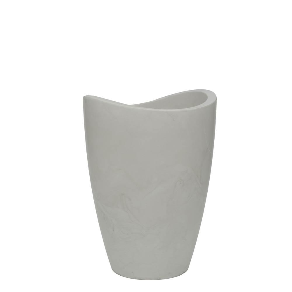 Vaso Copacabana Alto 40 x 54 cm Branco Marmorizado Vasart