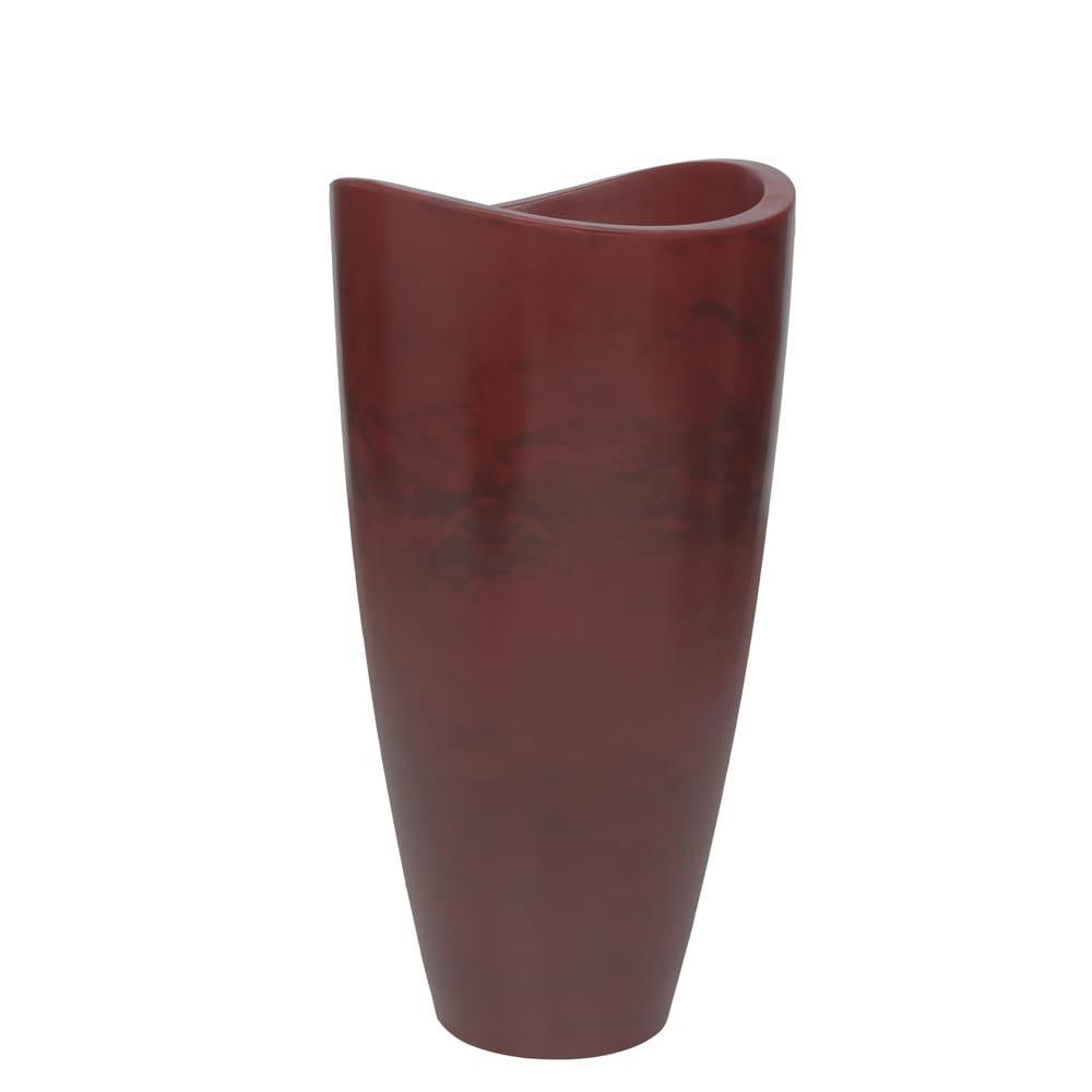Vaso Copacabana Alto 40 x 80 cm Vietnamita Vermelho Vasart