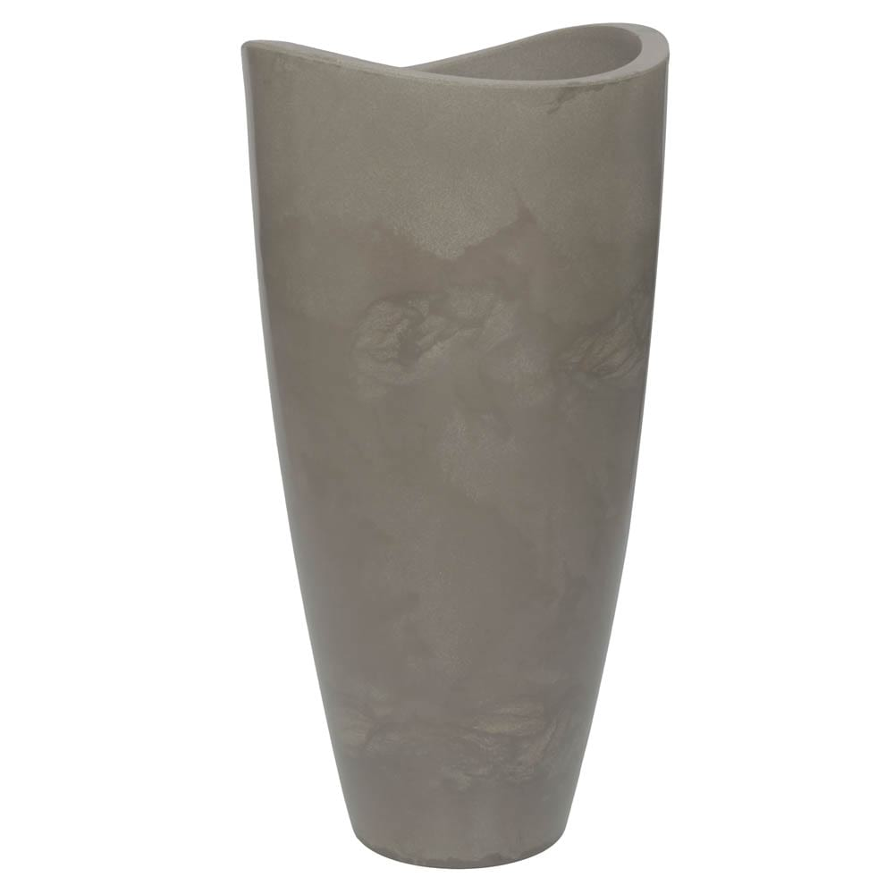 Vaso Copacabana Alto 45 x 90 cm Concreto Marmorizado Vasart