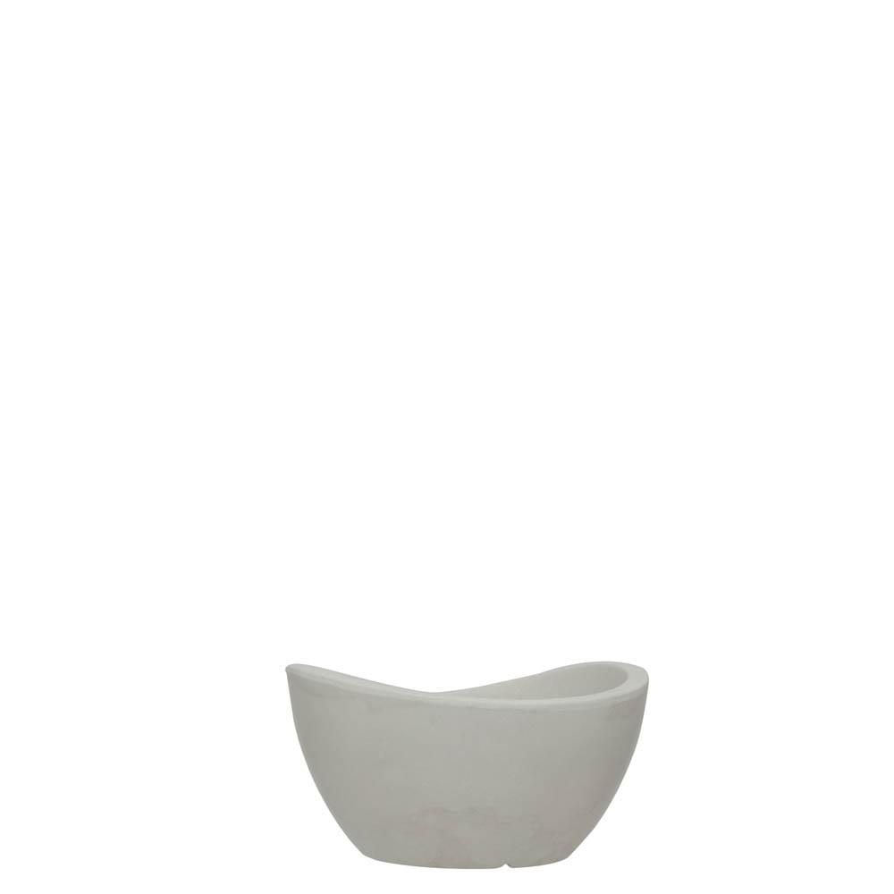 Vaso Copacabana Bowl 30 x 16 cm Branco Marmorizado Vasart