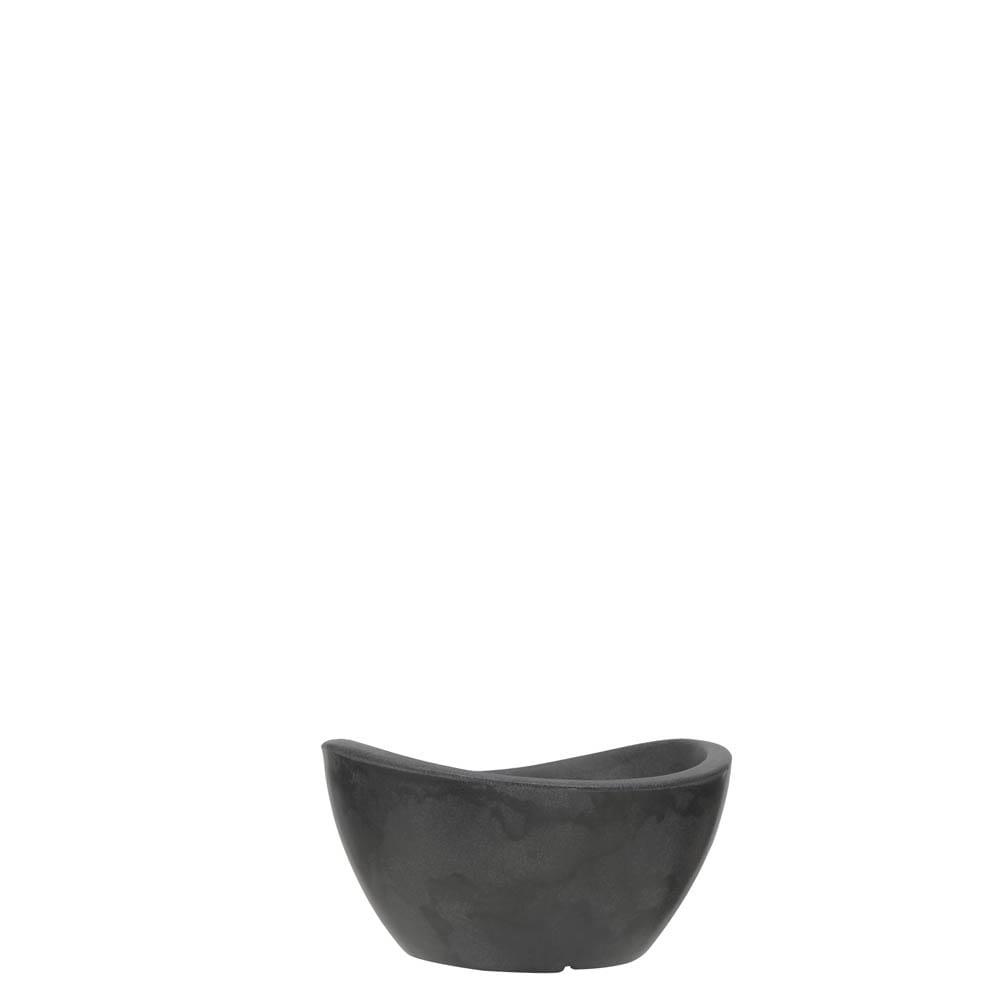 Vaso Copacabana Bowl 30 x 16 cm Preto Marmorizado Vasart