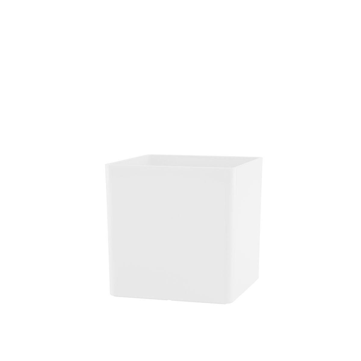 Vaso Cubo 10 x 10 cm Branco Vasart