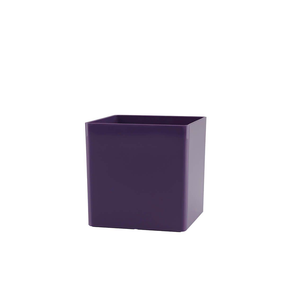 Vaso Cubo 10 x 10 cm Roxo Vasart