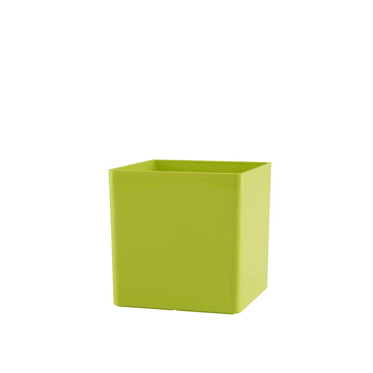 Vaso Cubo 10 x 10 cm Verde Vasart