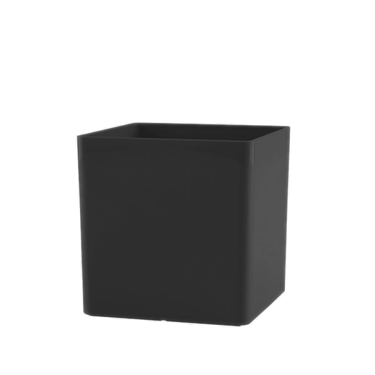 Vaso Cubo 14 x 14 cm Preto Vasart