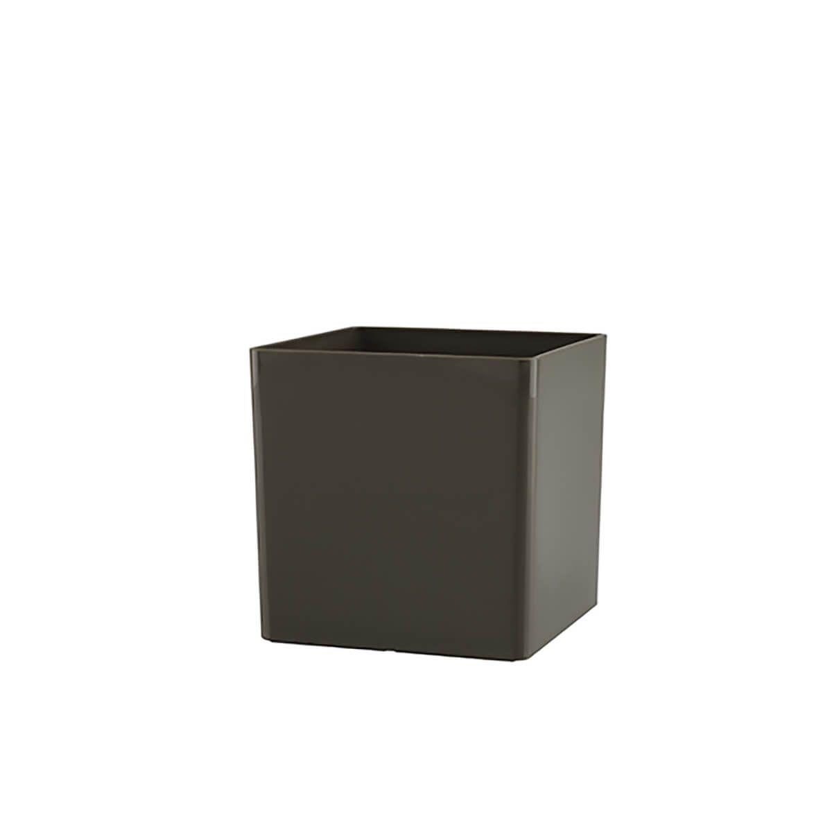 Vaso Cubo 14 x 14 cm Taupe Vasart