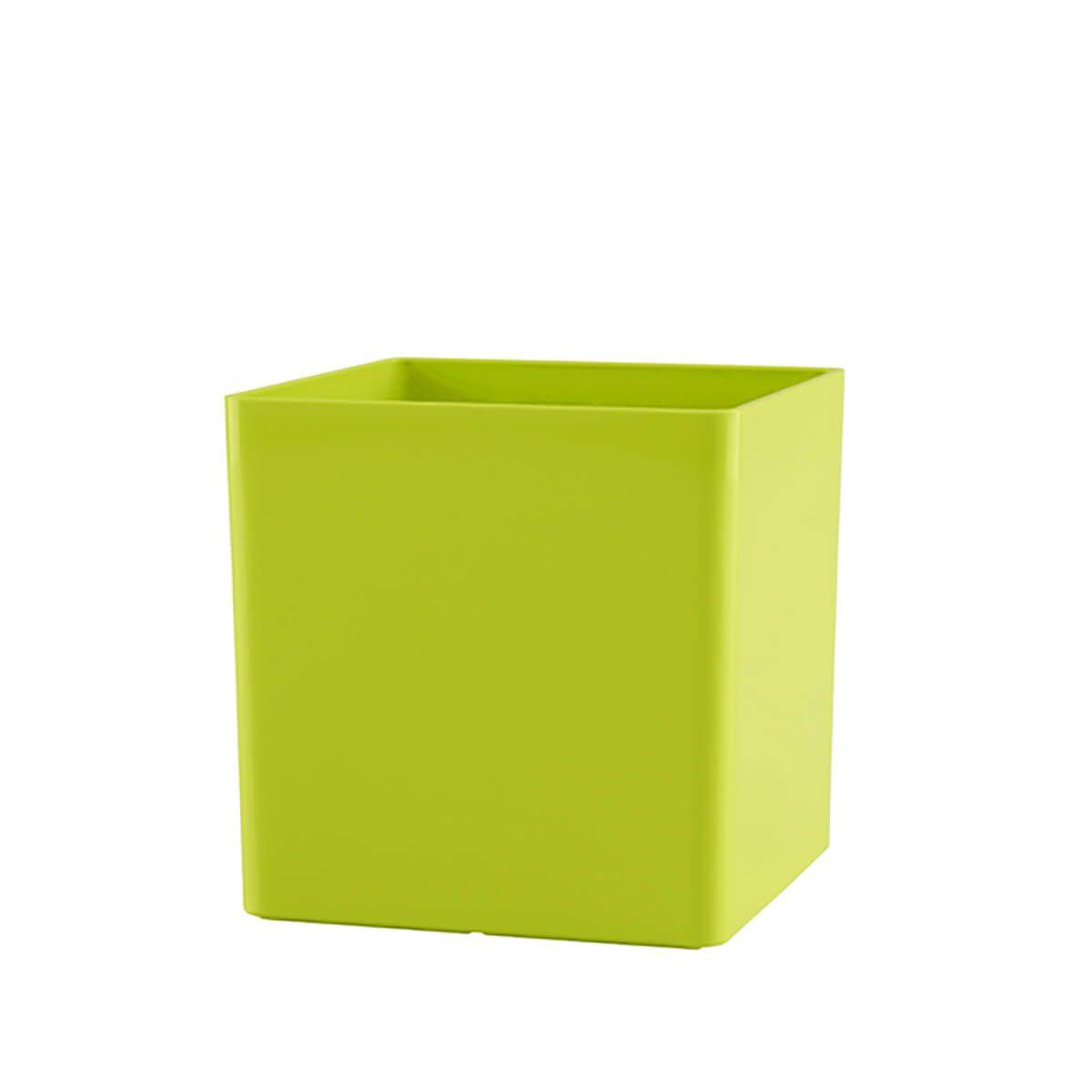 Vaso Cubo 14 x 14 cm Verde Vasart
