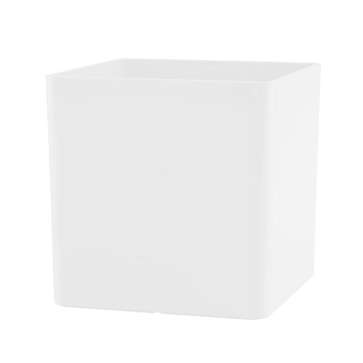 Vaso Cubo 17 x 17 cm Branco Vasart