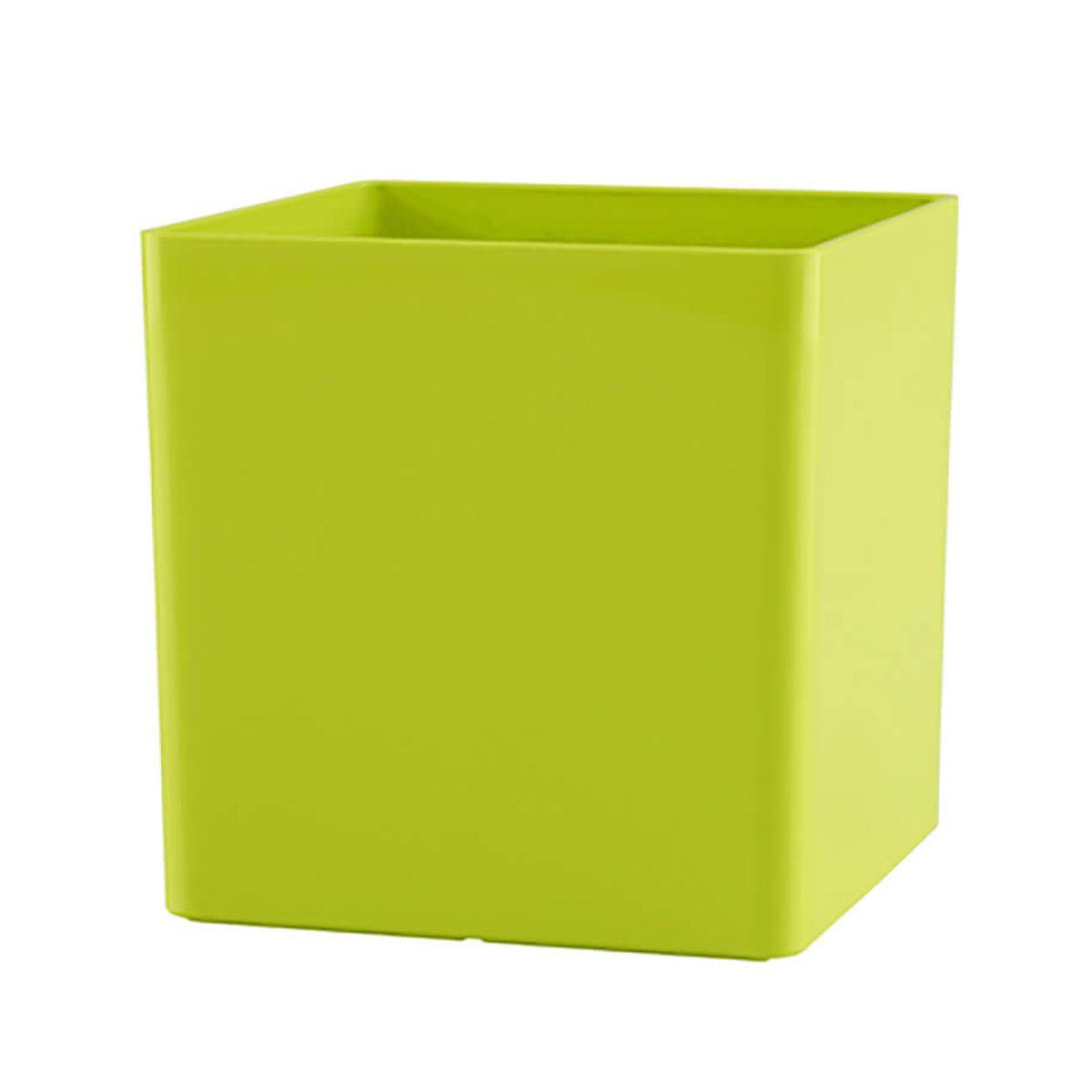 Vaso Cubo 17 x 17 cm Verde Vasart