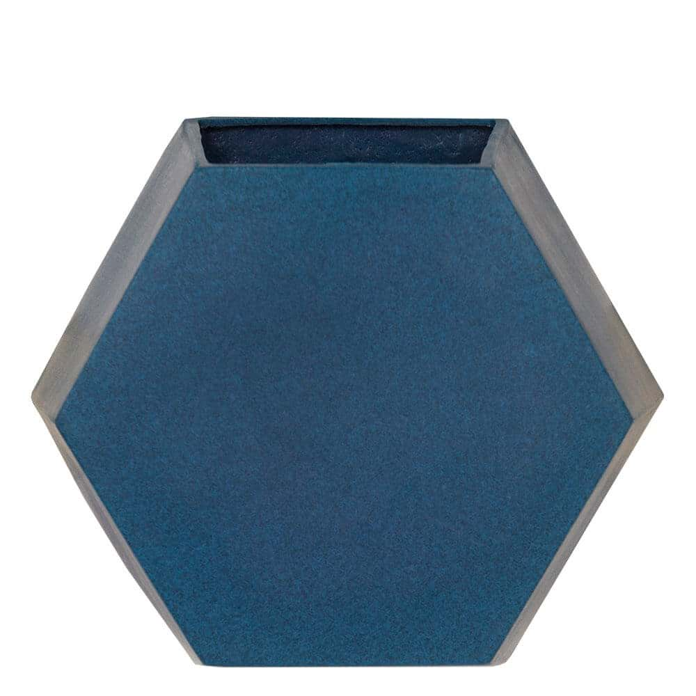 Vaso de Parede Colmeia 29 x 25 cm Azul Vietnamita Vasart