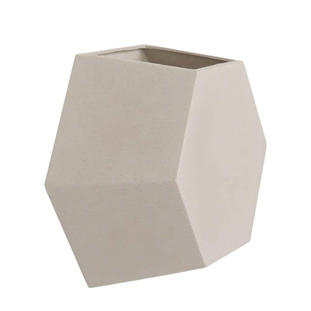 Vaso de Parede Colmeia 29 x 25 cm Branco Marmorizado Vasart