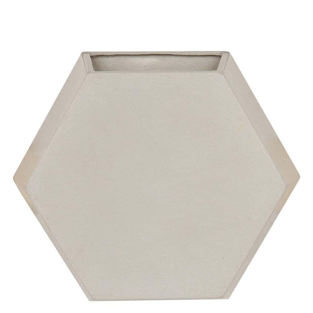 Vaso de Parede Colmeia 30  x 30 cm Branco Marmorizado Vasart
