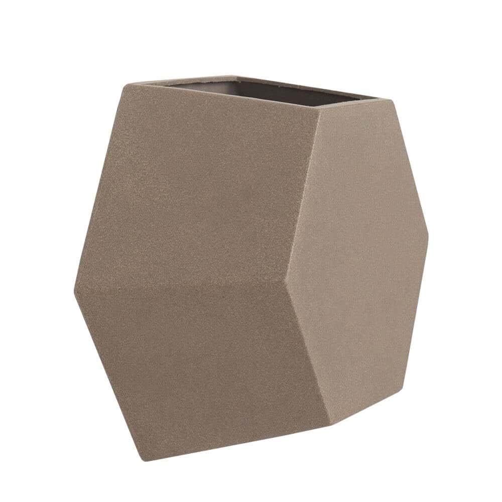 Vaso de Parede Colmeia 30  x 30 cm Concreto Marmorizado Vasart