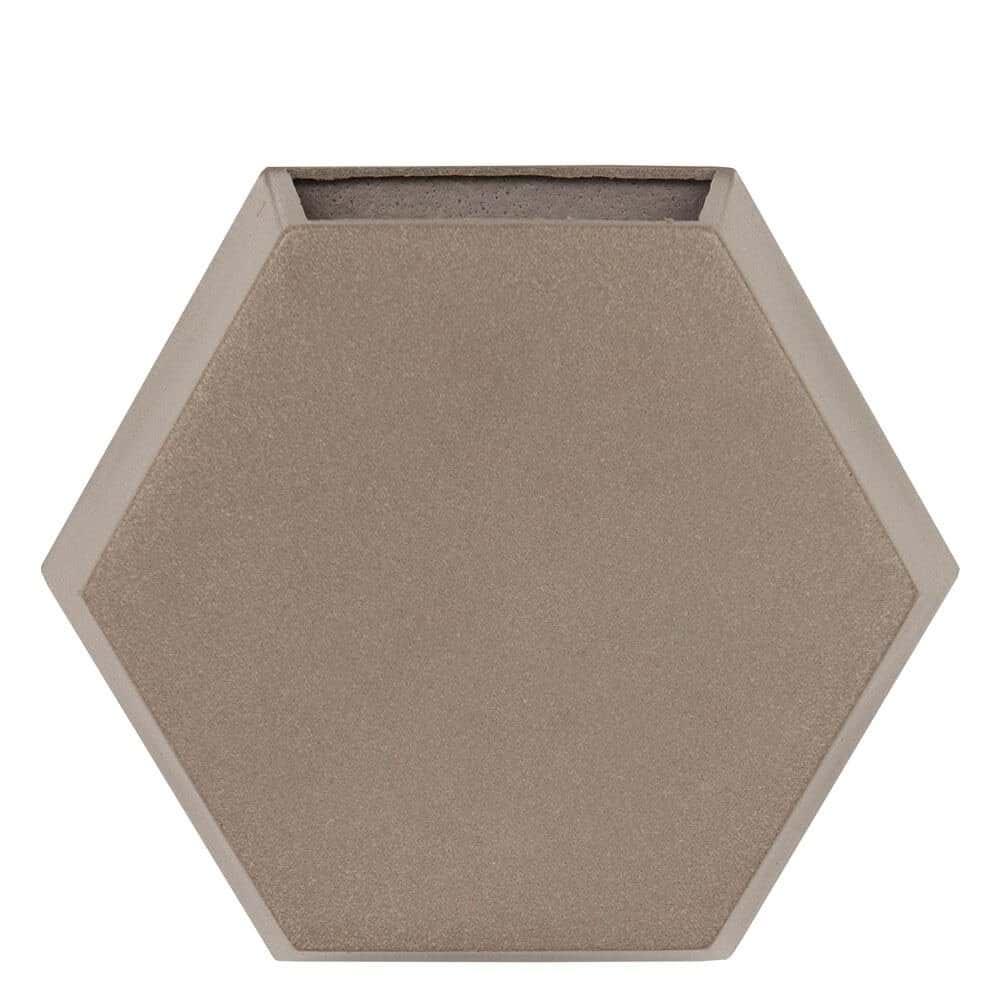 Vaso de Parede Colmeia 29 x 25 cm Concreto Marmorizado Vasart