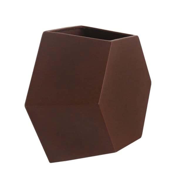 Vaso de Parede Colmeia 30  x 30 cm Corten Vasart