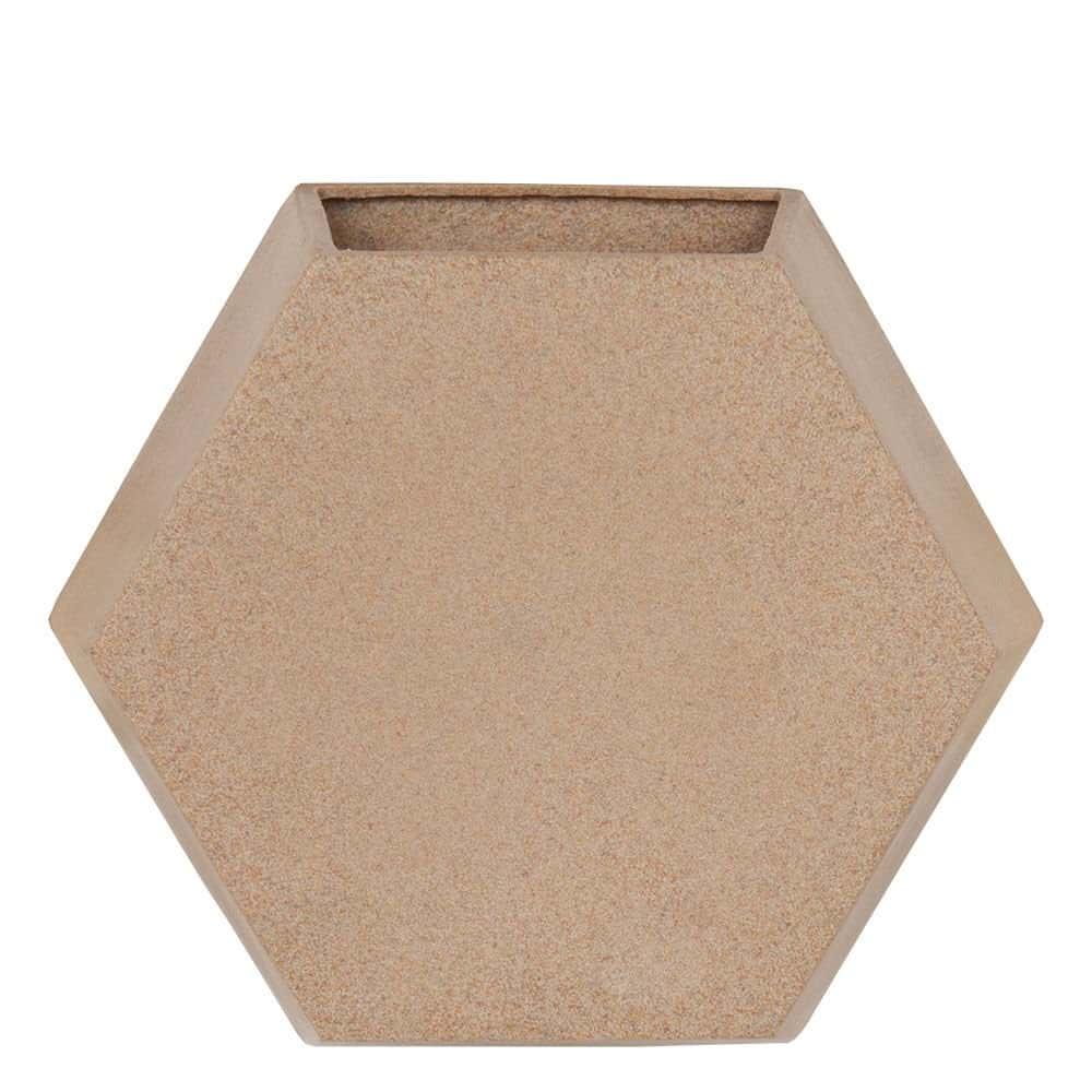 Vaso de Parede Colmeia 29 x 25 cm Granito Areia Vasart