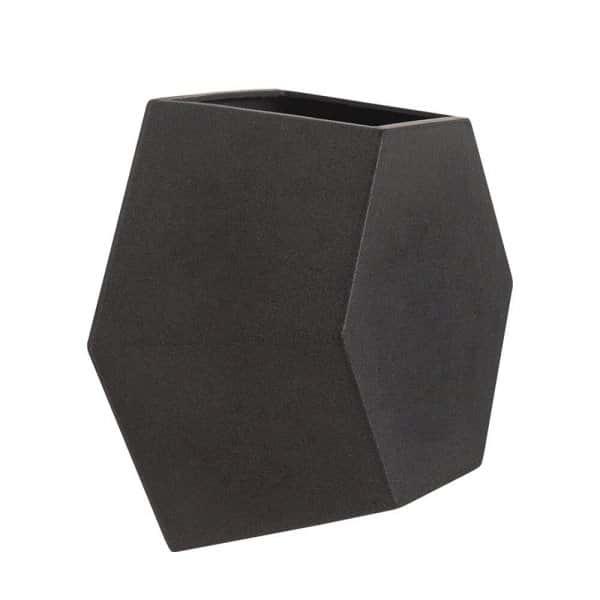 Vaso de Parede Colmeia 29 x 25 cm Preto Marmorizado Vasart