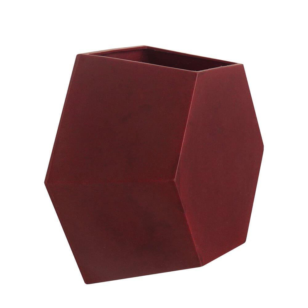 Vaso de Parede Colmeia 30  x 30 cm Vermelho Vietnamita Vasart