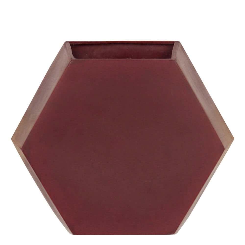 Vaso de Parede Colmeia 29 x 25 cm Vermelho Vietnamita Vasart
