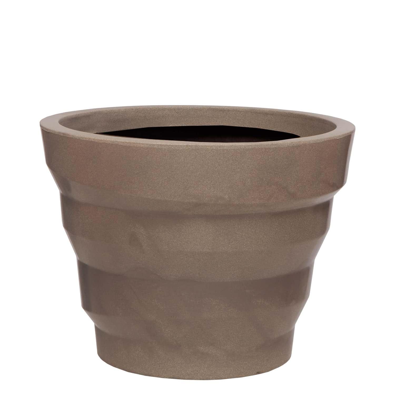 Vaso Dunas 55 x 42 cm Concreto Marmorizado Vasart