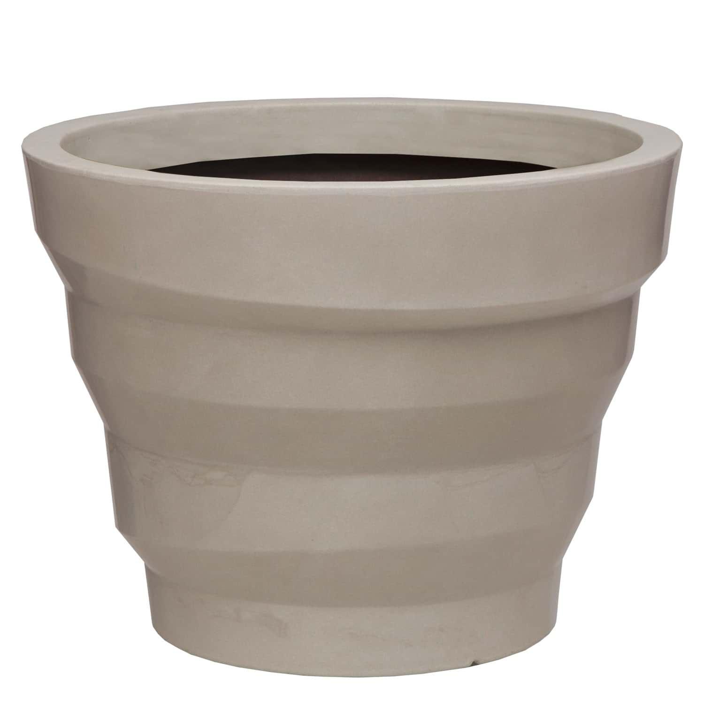 Vaso Dunas 65 x 50 cm Branco Marmorizado Vasart