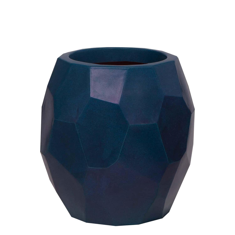 Vaso Geo 39 x 40 cm Azul Vietnamita Vasart