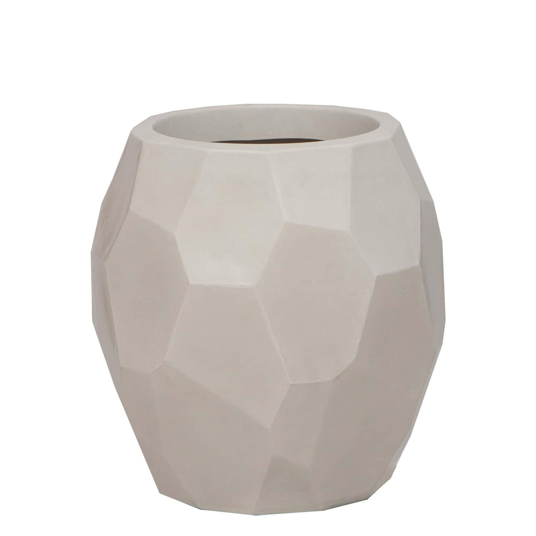 Vaso Geo 39 x 40 cm Branco Marmorizado Vasart
