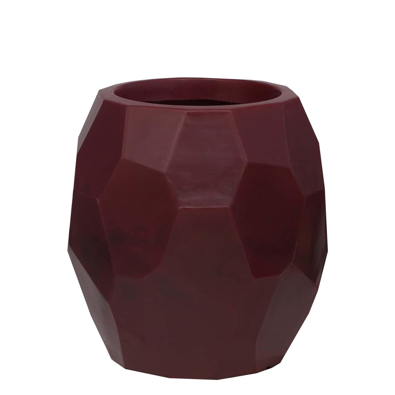 Vaso Geo 39 x 40 cm Vermelho Vietnamita Vasart