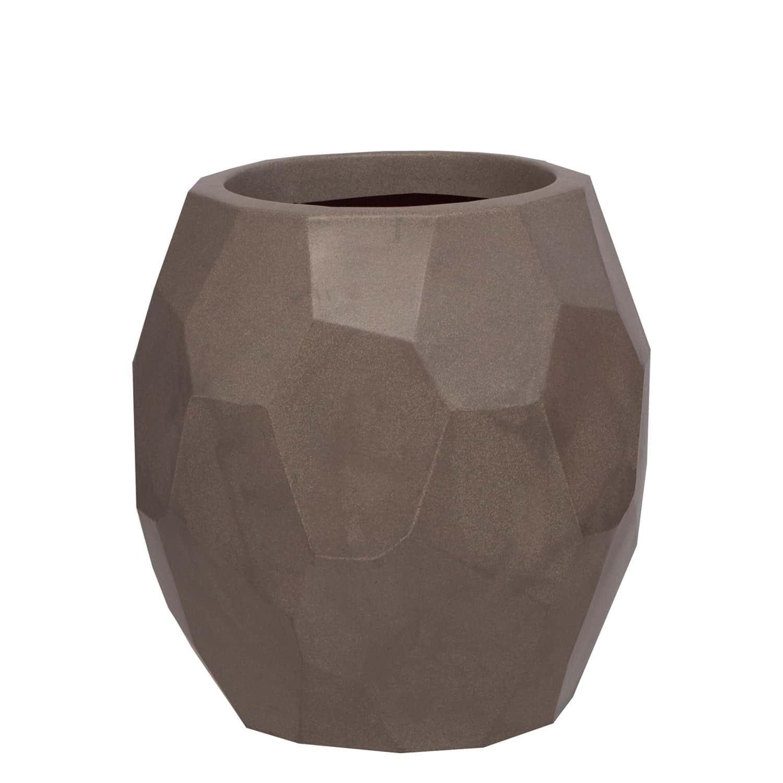 Vaso Geo 39 x 40 cm Concreto Marmorizado Vasart