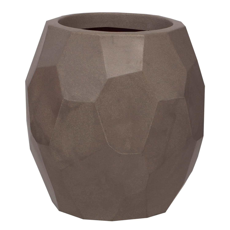Vaso Geo 45 x 47 cm Concreto Marmorizado Vasart