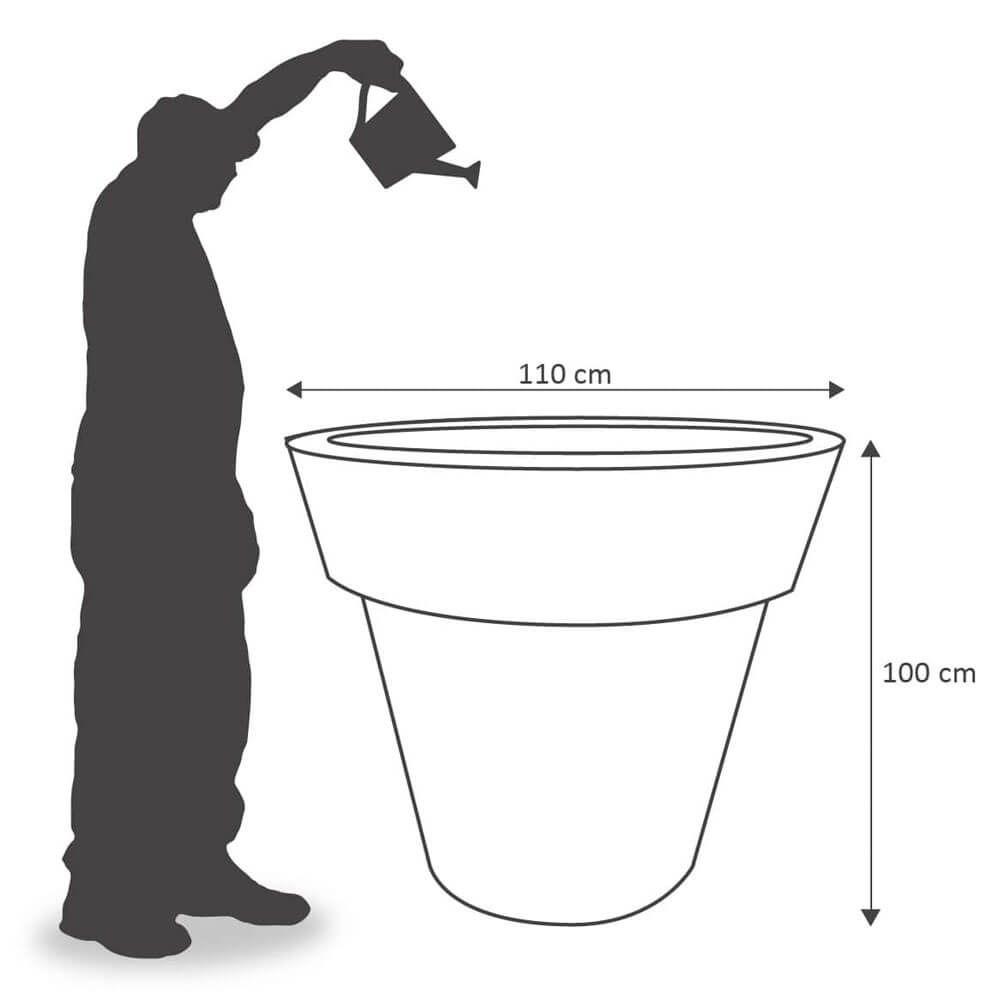 Vaso Ibiza 110 x 100 cm Concreto Marmorizado Vasart