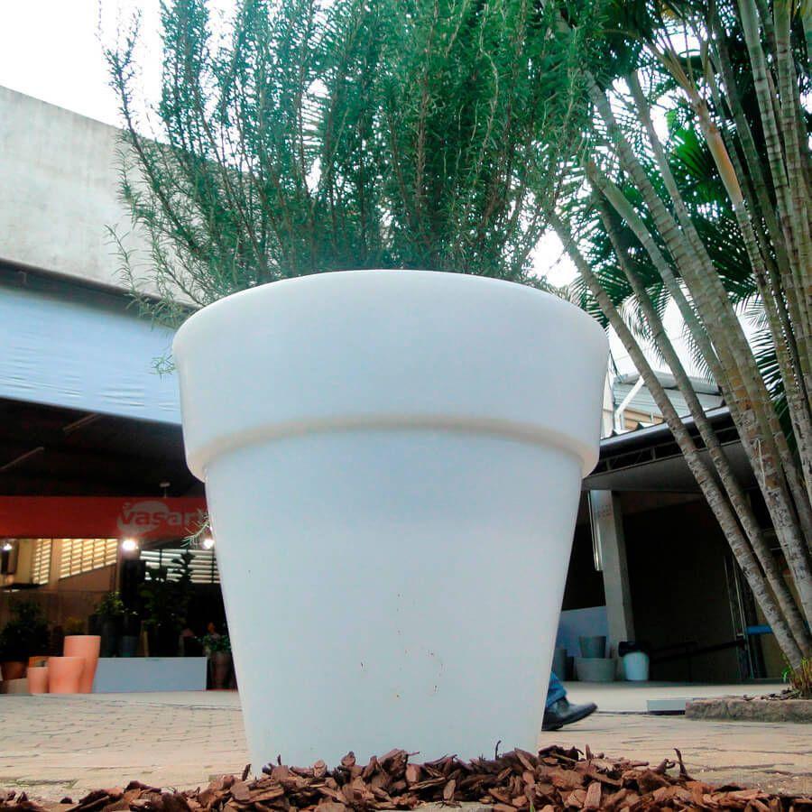 Vaso Ibiza 80 x 70 cm Concreto Marmorizado Vasart