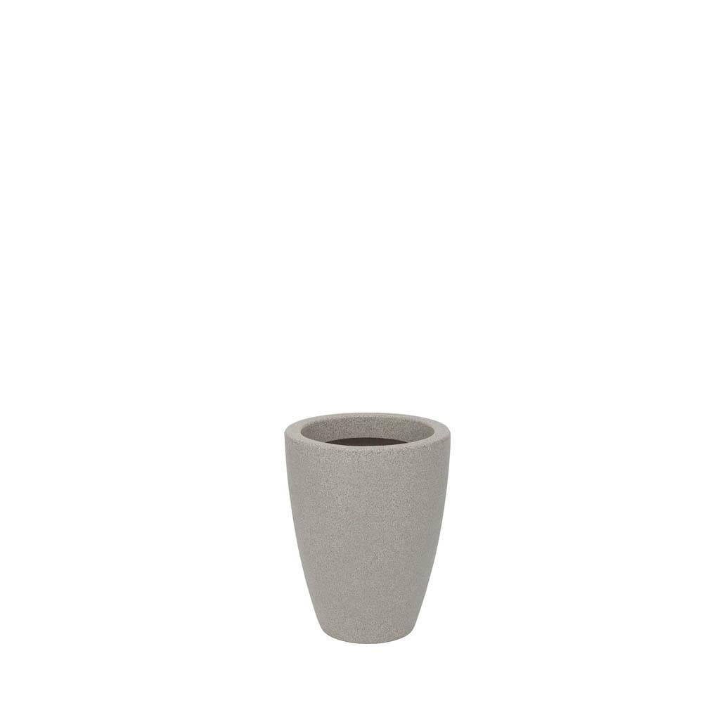 Vaso Malta Cone 25 x 32 cm granito Pedra Vasart